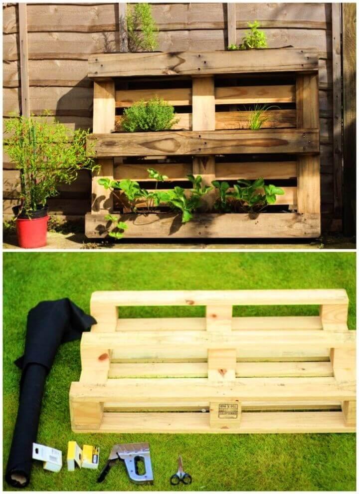 Easy DIY Pallet Herb Planter