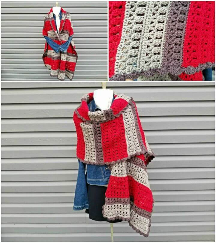 Free Crochet Cranberry Chill Wrap Pattern