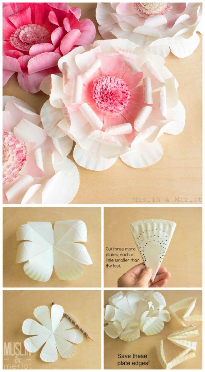 Gorgeous DIY Paper Plate Flowers
