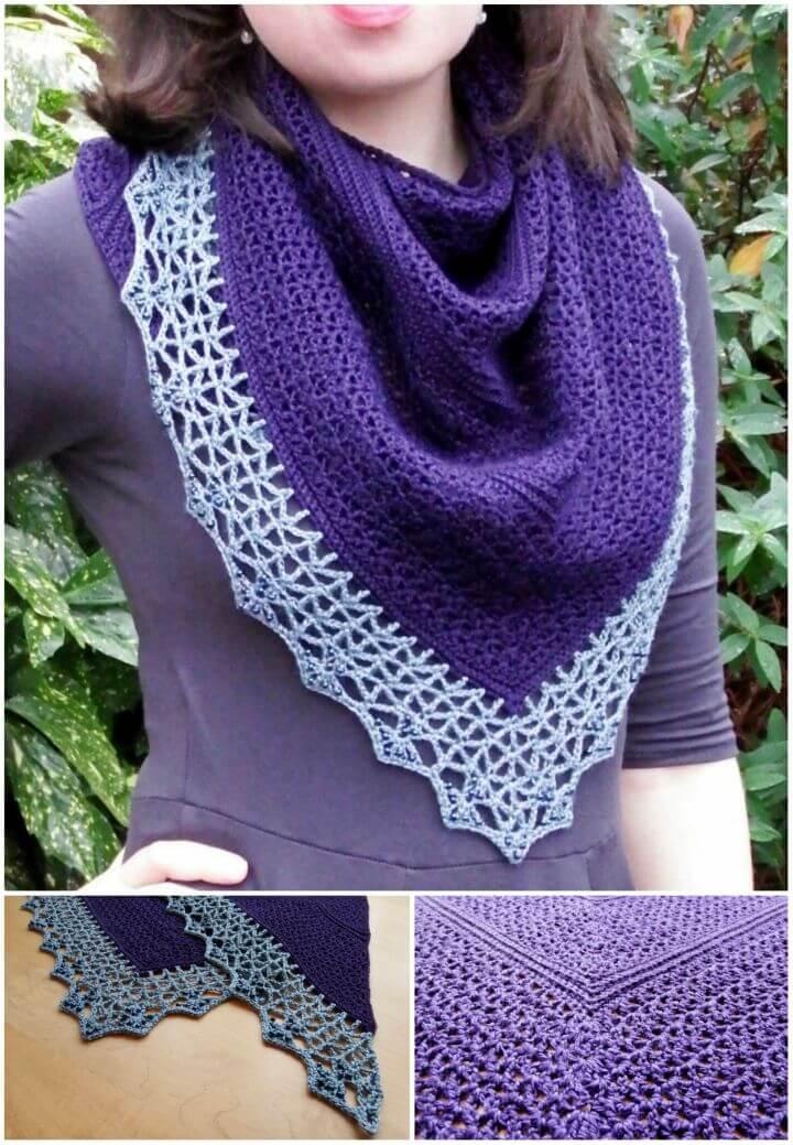 How to Crochet Atlantic Lace Shawl