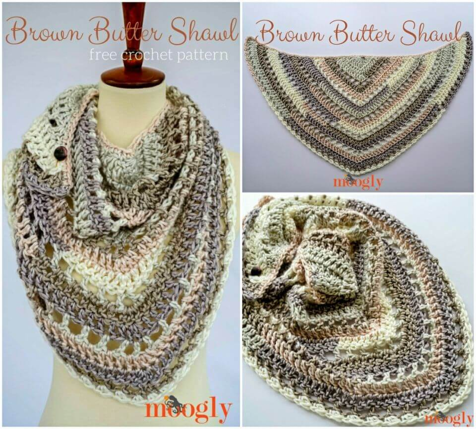 How to Crochet Brown Butter Shawl