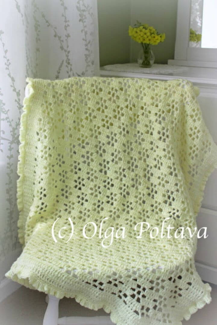 How to Crochet Buttercups Lace Baby Blanket