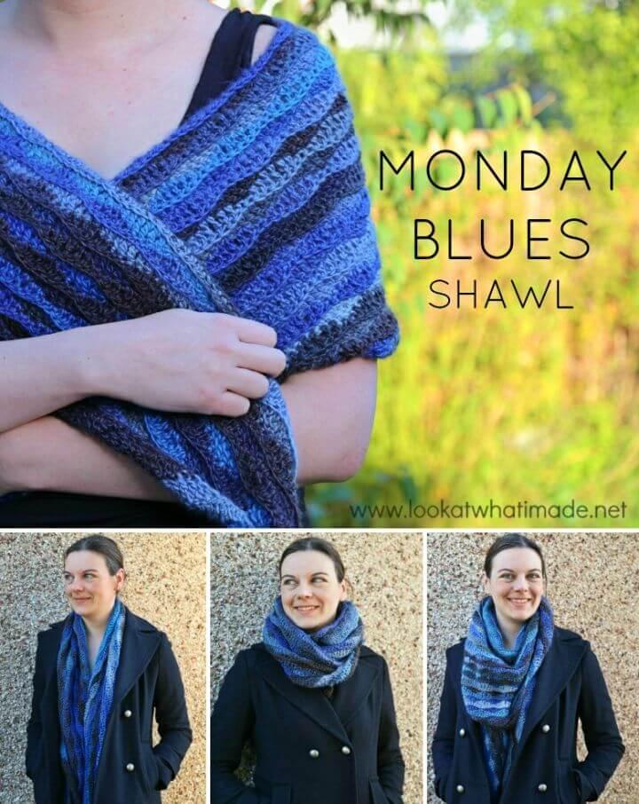 How to Crochet Monday Blues Shawl