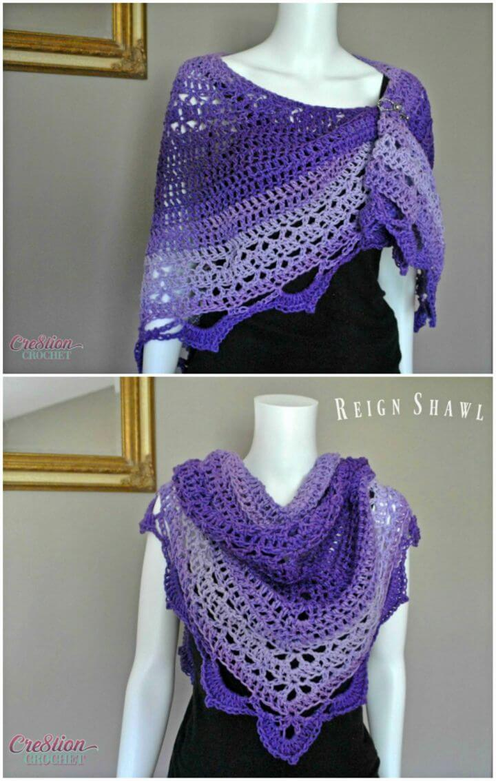 How to Crochet Reign Shawl