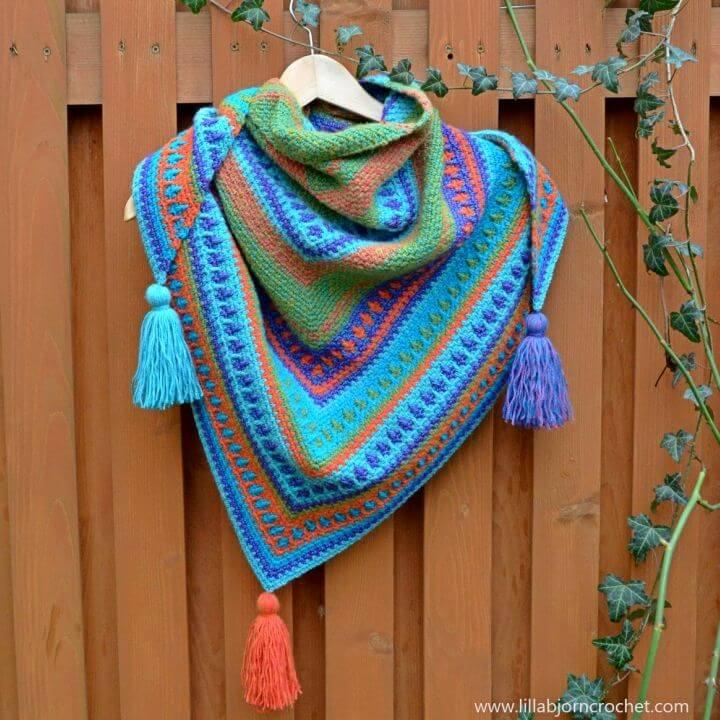 How to Crochet River's Walk Shawl