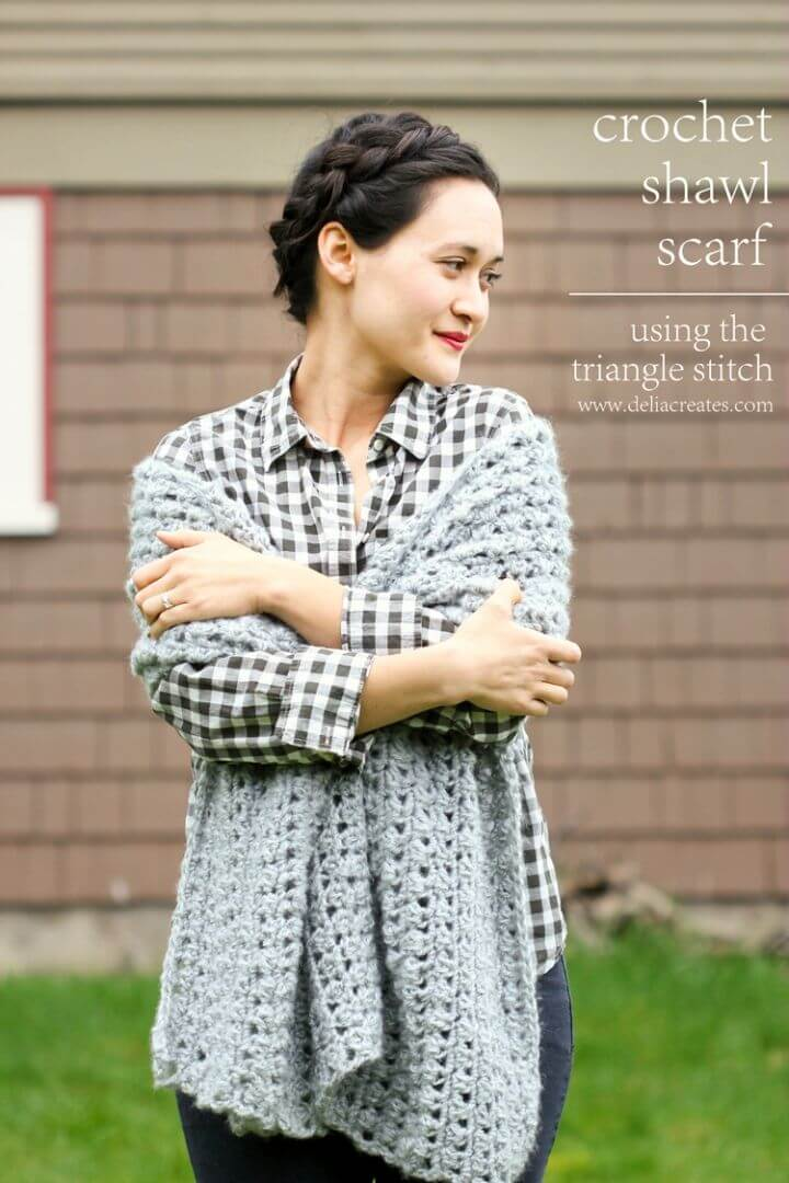How to Crochet Shawl Scarf