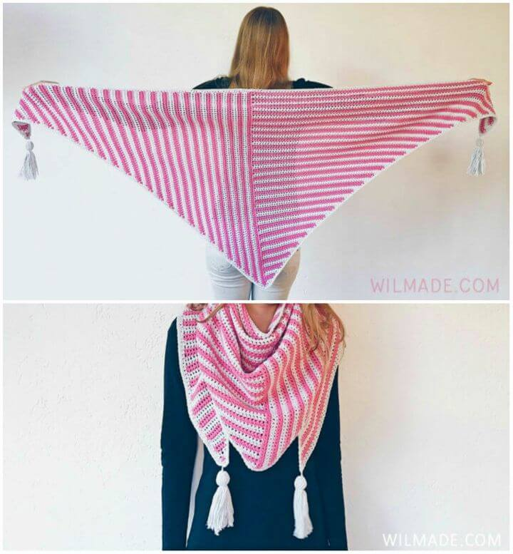 How to Crochet Stripe Me Shawl
