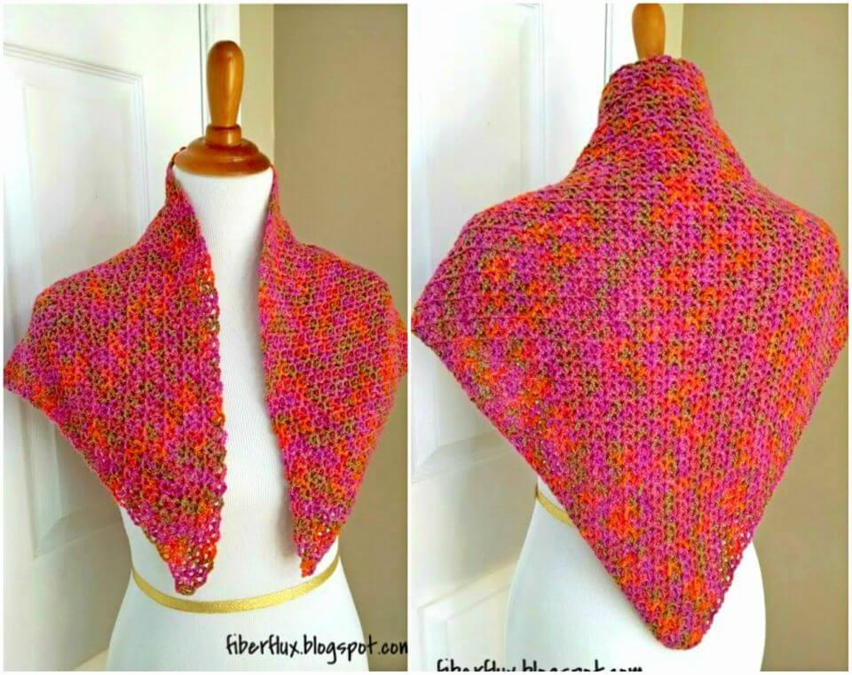 How to Crochet Zinnia Flower Shawl