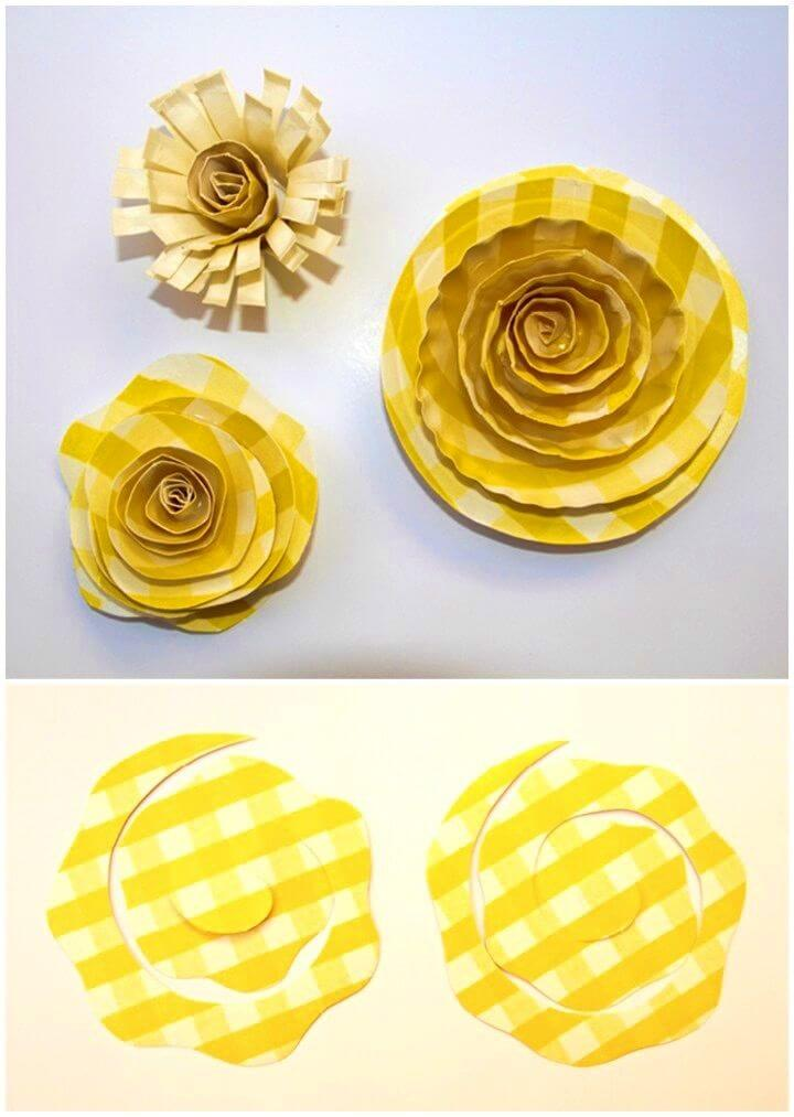 How to DIY Paper Plate Flowers