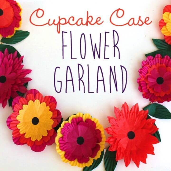 How to Make Cupcake Case Flower Garland
