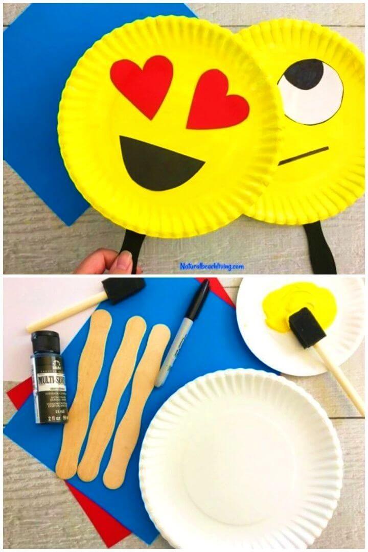 How to Make Emoji Paper Plate Craft