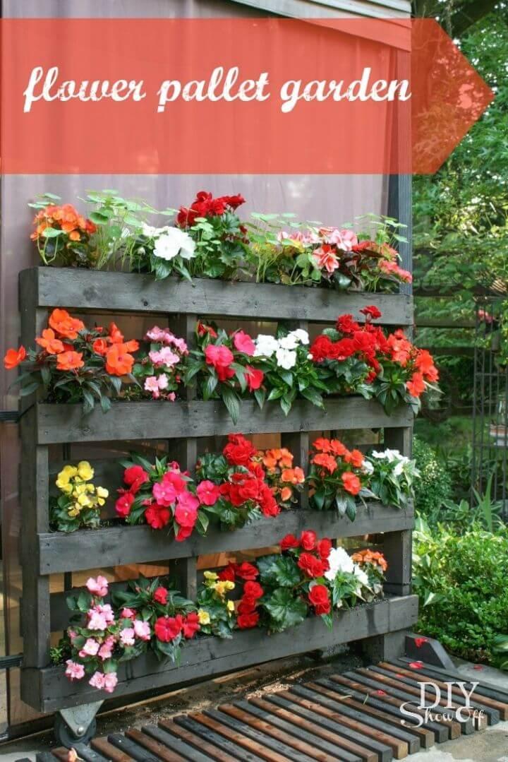 How to Make Flower Pallet Garden