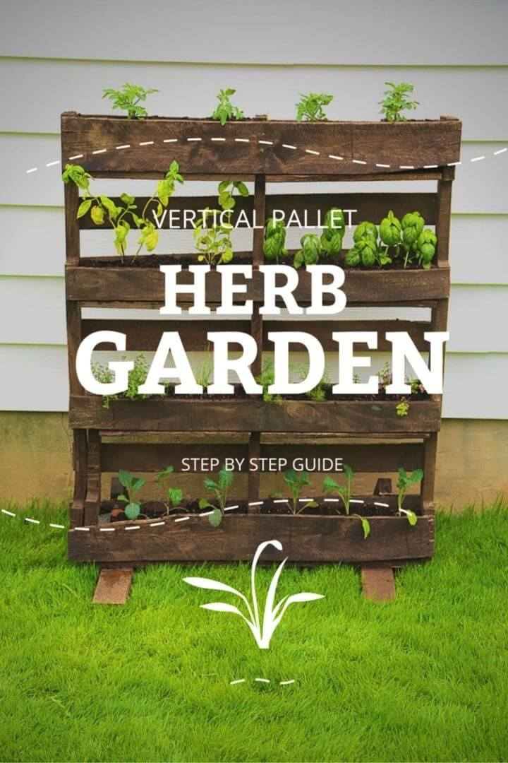 How to Make Vertical Pallet Herb Garden