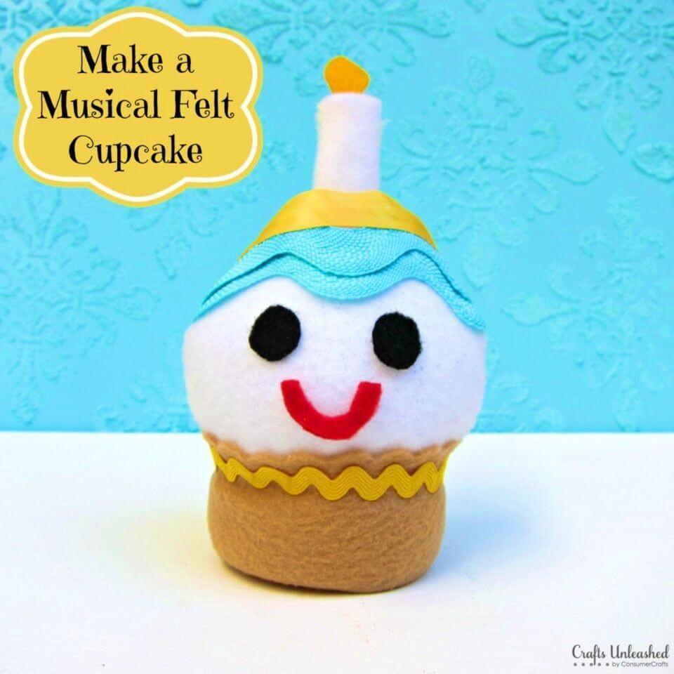 How to Make a Musical Felt Cupcake Craft