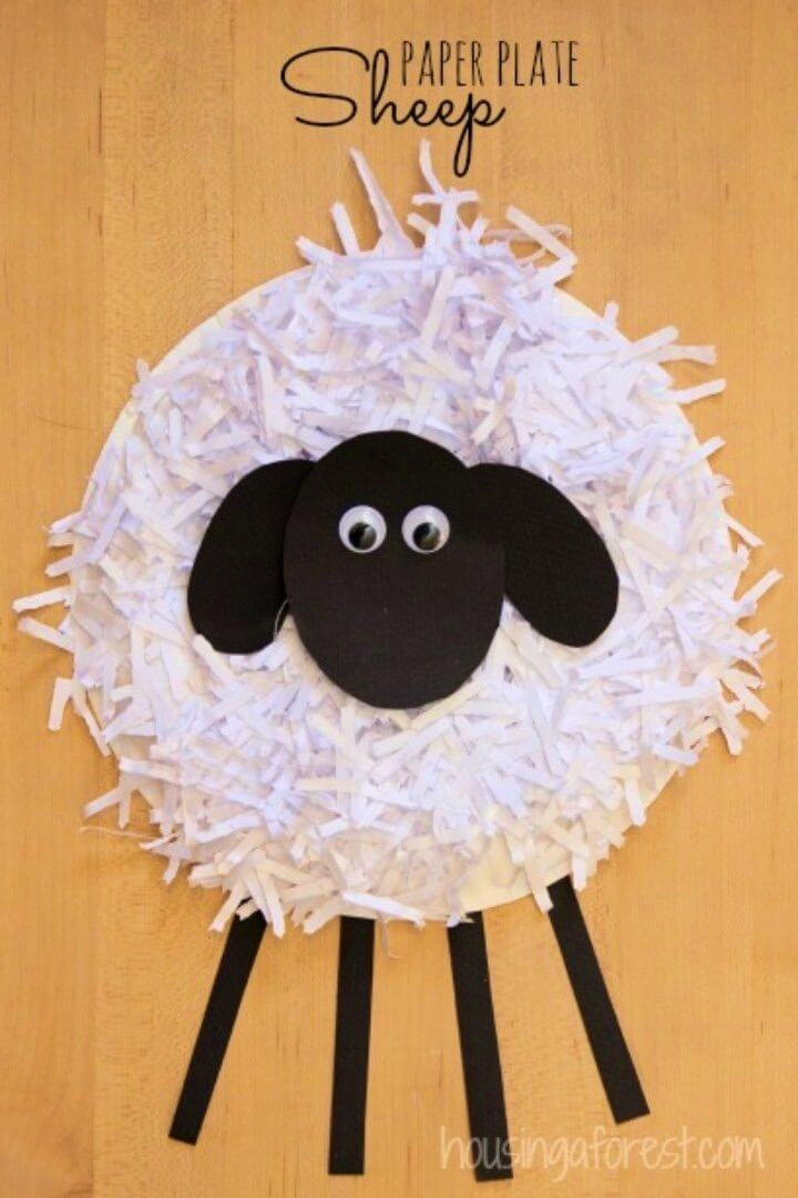 How to Make a Paper Plate Sheep