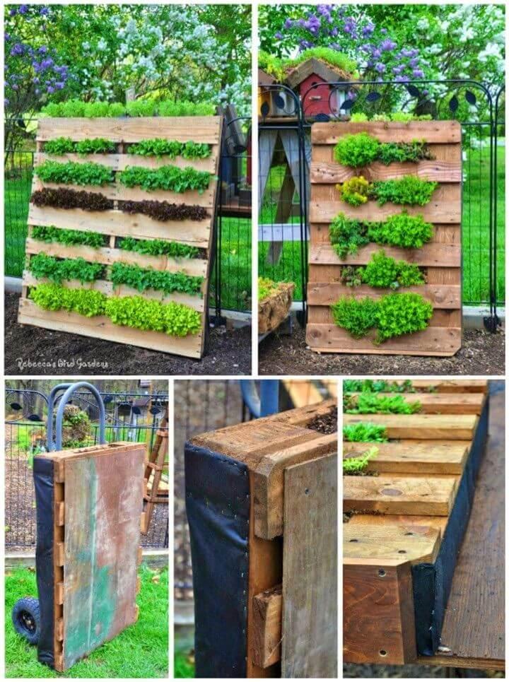 Inexpensive DIY Vertical Pallet Garden