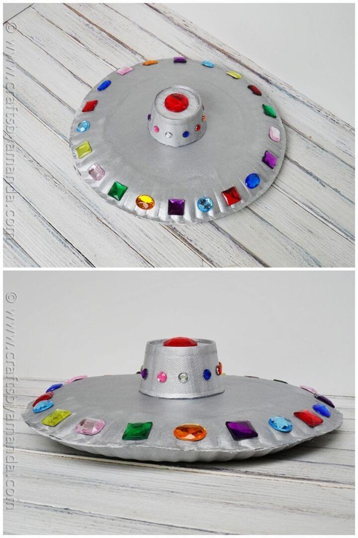 Make Paper Plate Flying Saucer