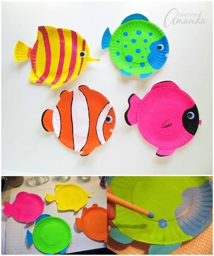 Make Paper Plate Tropical Fish