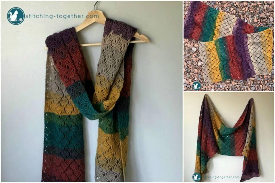 Make Wrap Me in Diamonds Scarf Free Crochet Pattern