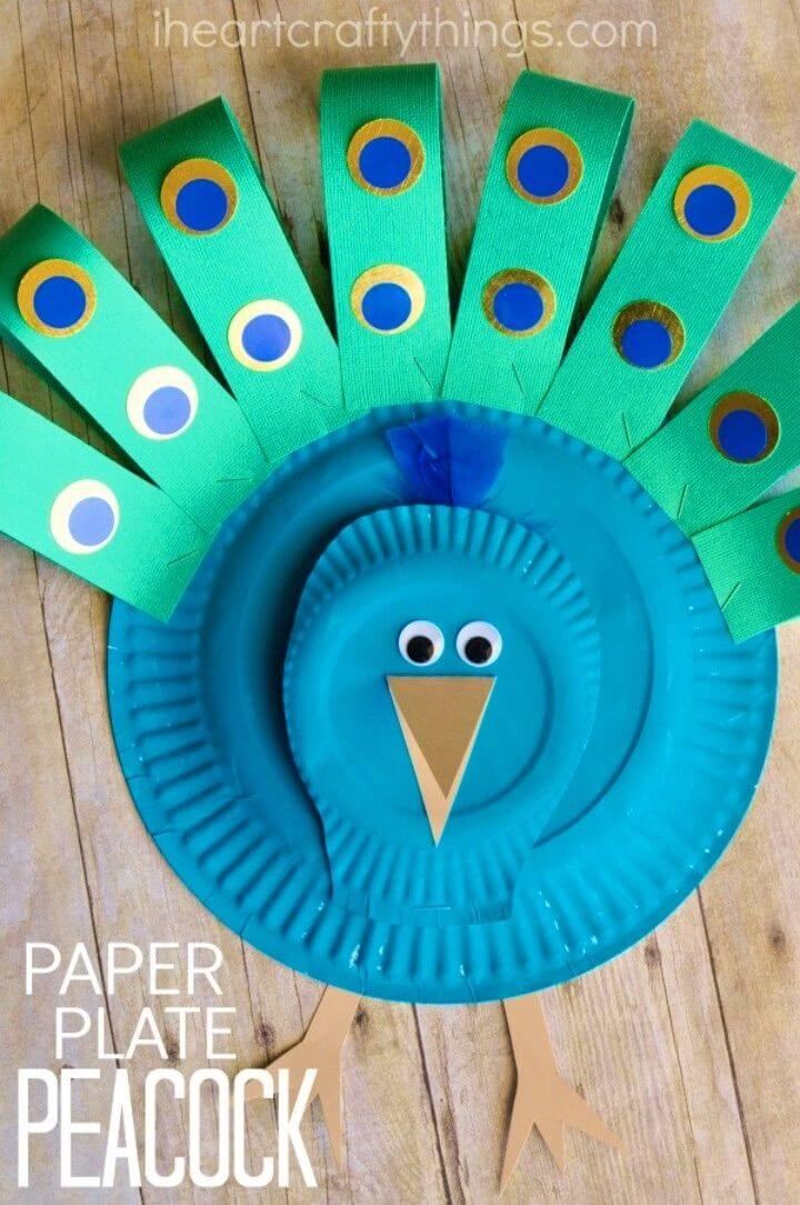 Make Your Own Paper Plate Peacock Craft