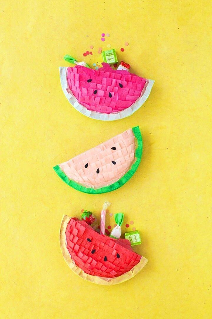 Make Your Own Watermelon Piñatas