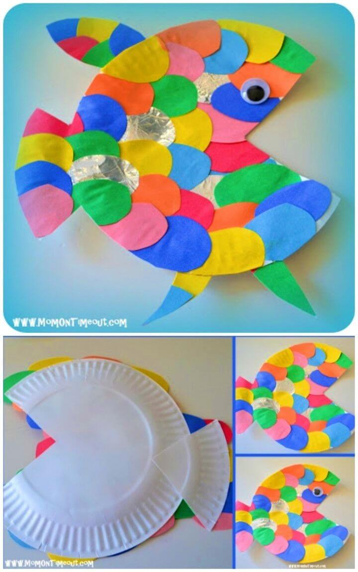 Make a Paper Plate The Rainbow Fish