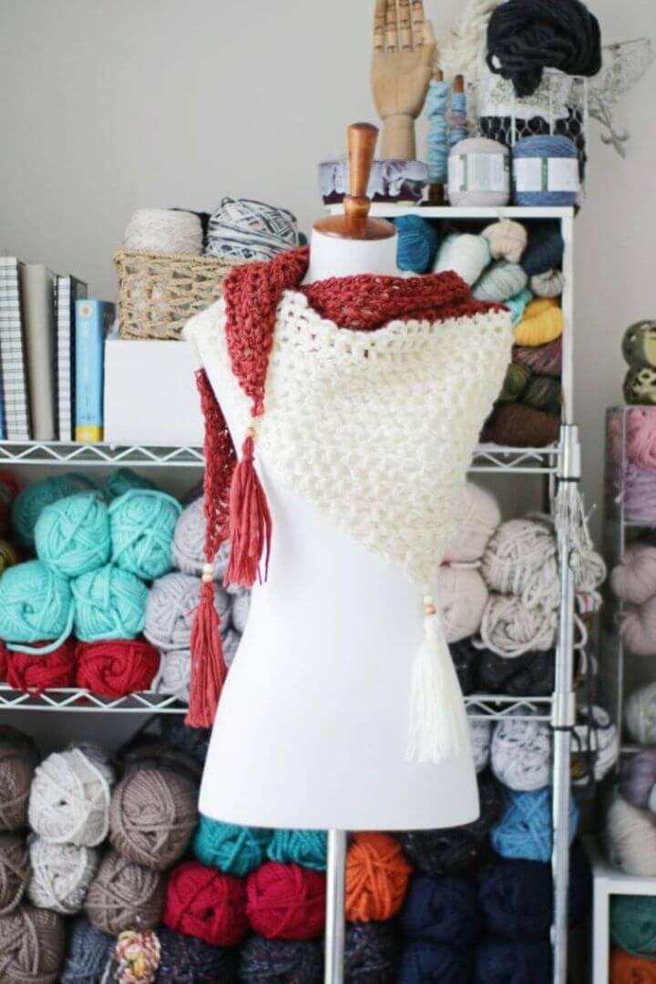 Pretty Crochet Boardwalk Shawl Free Pattern