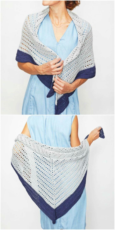 Pretty Crochet Summer Shawl Free Pattern