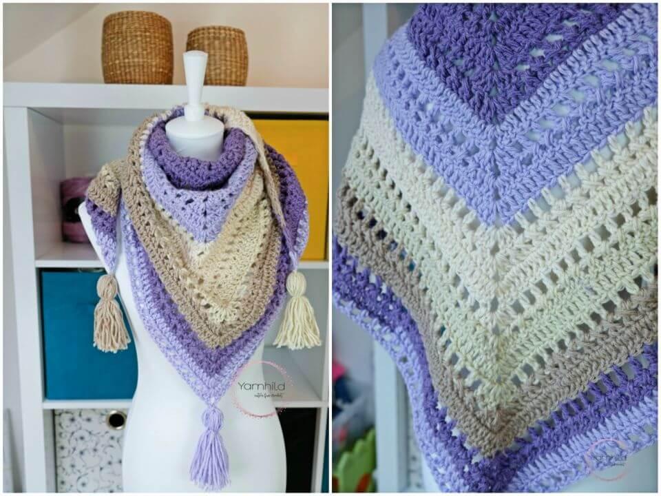 Quick Crochet Shawl Free Pattern