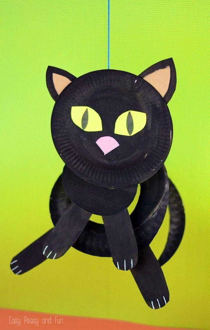 Quick to Create Paper Plate Black Cat