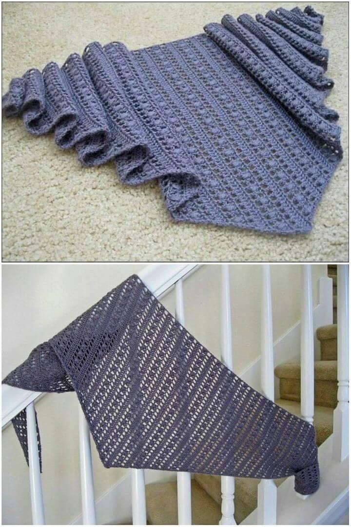 Simple Crochet Shawl Free Pattern