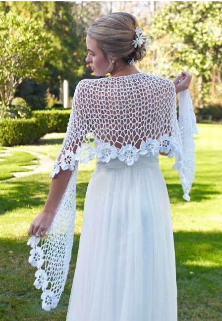 Simple Crochet Spring Blooms Shawl Free Pattern