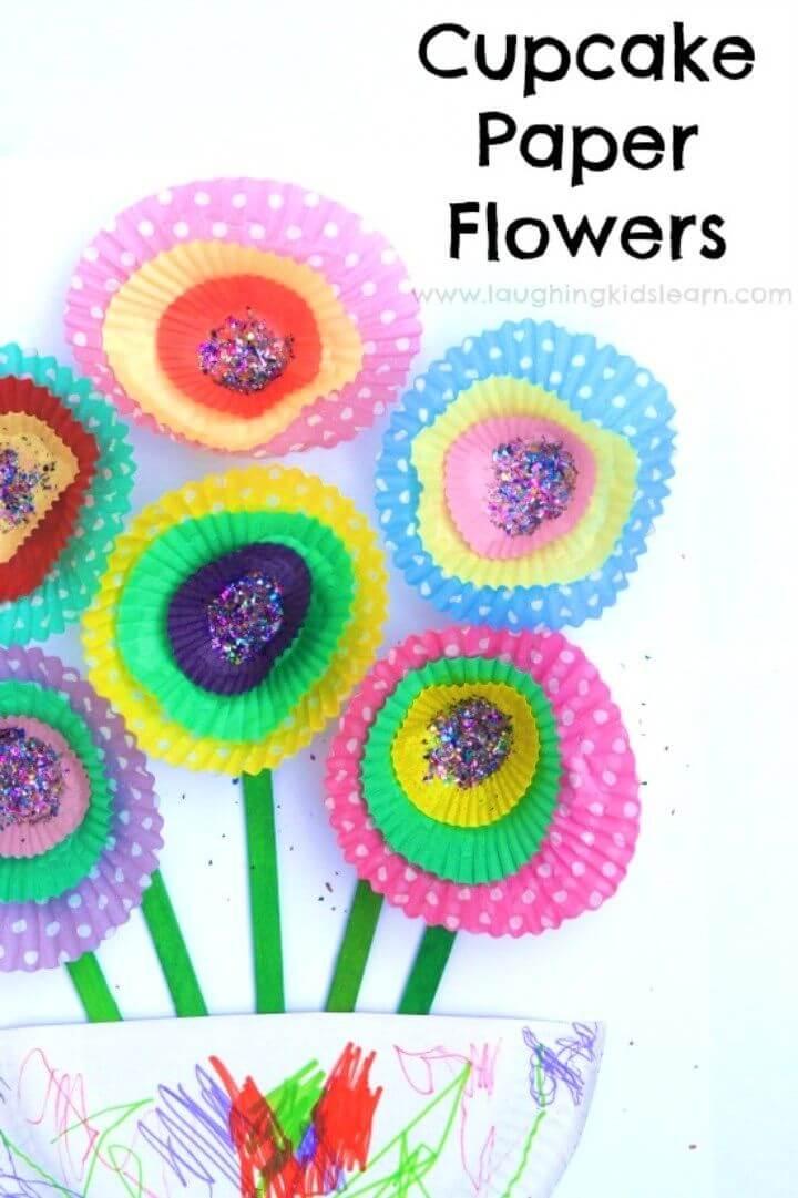 Simple DIY Cupcake Paper Flowers Craft