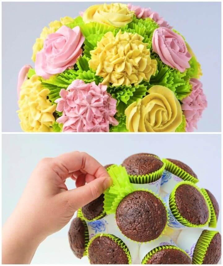 Sweet DIY Cupcake Bouquet