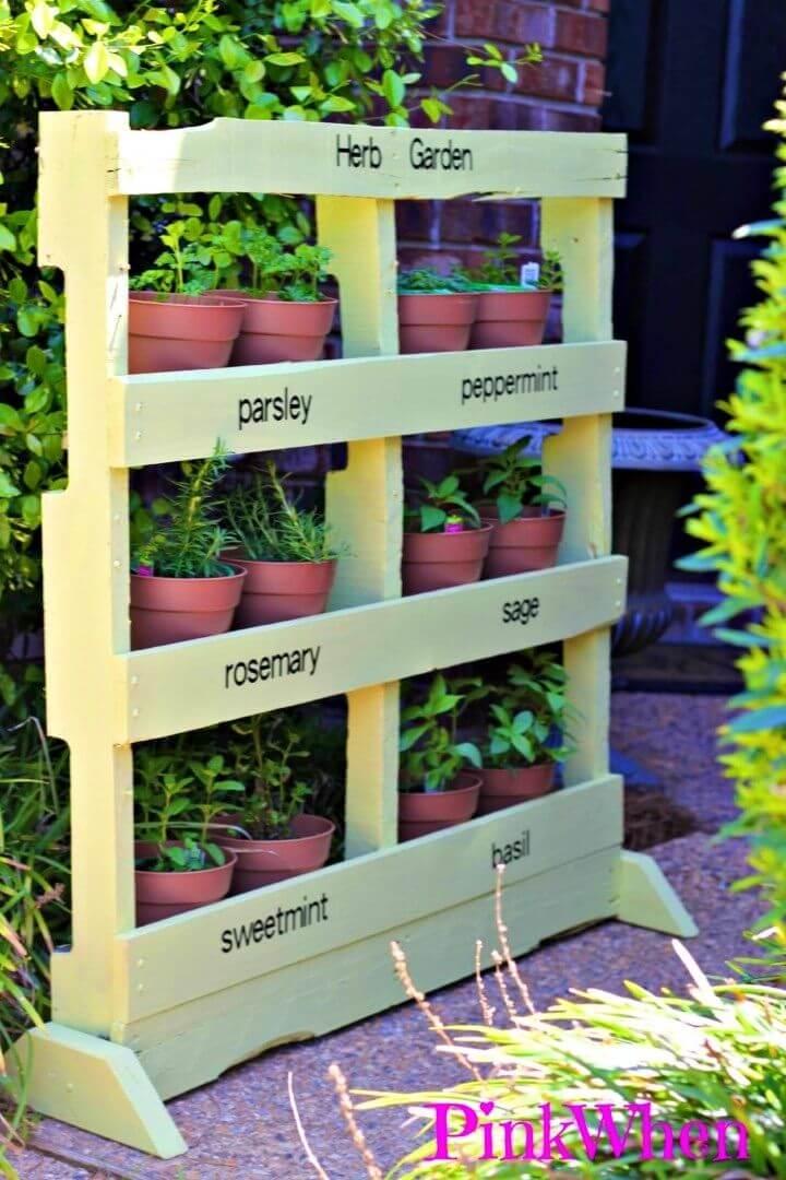 Turn Pallet into Herb Garden