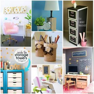 30 DIY Projects to Organize Your Home Office
