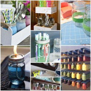 32 DIY Mason Jar Organizer Thats Useful