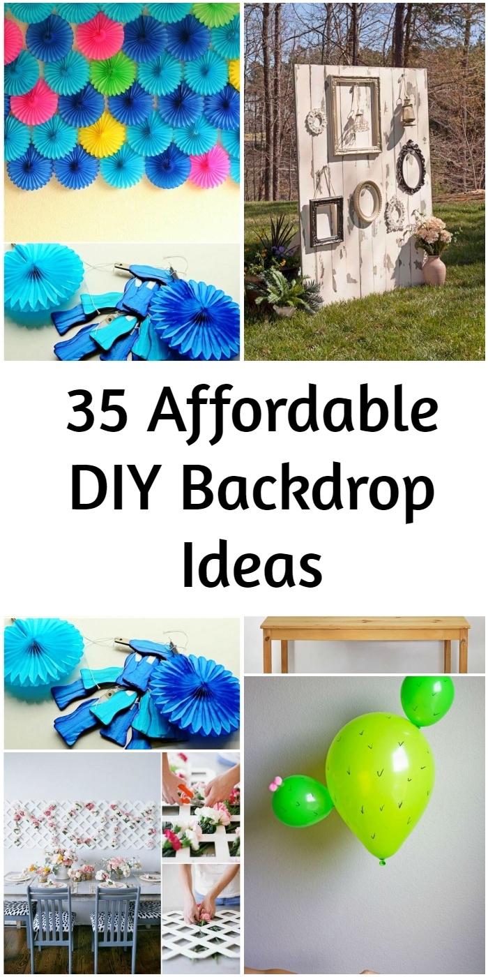 35 Affordable DIY Backdrop Ideas 1