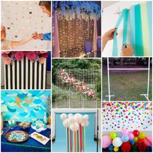 35 Affordable DIY Backdrop Ideas