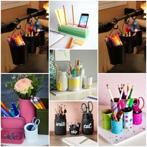 38 Brilliant DIY Desk Organizer Ideas
